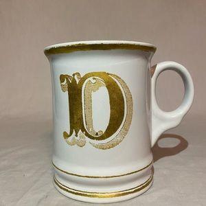 Williams-Sonoma Monogram Initial Letter D Mug